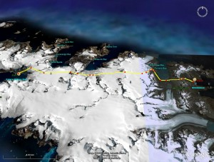 South Georgia Traverse Route