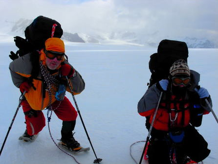 Crossing the Crean Glacier